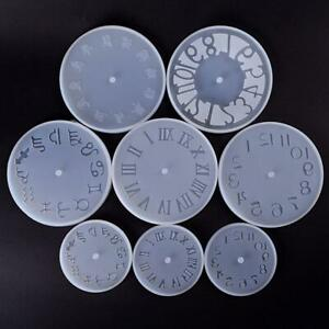 DIY Silicone Epoxy Molds Resin Jewelry Clock Mould Molds Craft Handmade F9D6