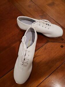WHITE SPLIT SOLE WITH BUCK TAPS | eBay