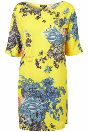 8 Print Euro Topshop Dress Uk Bnwt 4 Lemon T 36 Lotus Us shirt En0q8f