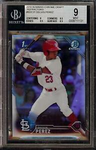 2016 Bowman Chrome Draft Refractors #BDC31 Delvin Perez Rookie RC BGS 9 Mint