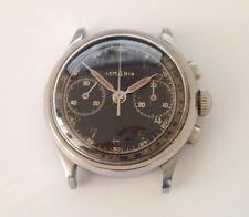 Rare Lemania chronograph staybrite steel