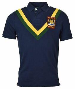 rugby y de clásico para con logo ajuste Lauren Camiseta Ralph hombre Polo tIw8q14