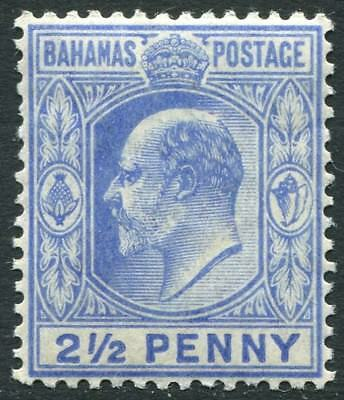 Bahamas (until 1973) British Colonies & Territories Enthusiastic Bahamas-1906-11 2½d Ultramarine Sg 73 Lightly Mounted Mint V22439
