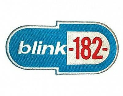 BLINK 182 blue logo 1999 EMBROIDERED IRON/SEW ON PATCH import - no longer made