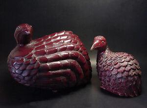 VINTAGE-SOUTHEAST-ASIA-PRIMITIVE-WOOD-CARVED-PRAIRIE-BIRDS-CIRCA-1880-1930-039-s