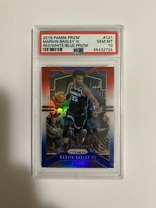 Marvin Bagley III PSA 10 2019 Panini Red White Blue Prizm Sacramento Kings #121