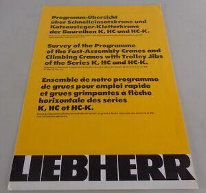 Brochure Liebherr Programmübersicht Over Schnelleinsatzkrane K, HC Etc. From 81