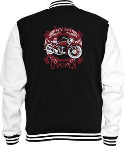Rot College Racing Sweat Usa Indian Biker Bike Jacke Moto IfqOawwSx