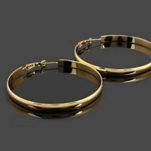 Fashion-Women-Big-Hoop-Earrings-Jewelry-Yellow-Gold-Filled-Hoop-Earring