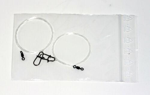 2 Vorfächer Fluocarbon Ø 0,28mm//11,5Kg ca 100 cm lang