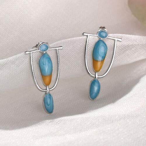hook eardrop des boucles d/'oreilles en turquoise en pierre précieuse