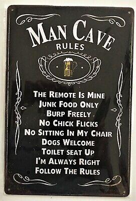 No Stupid People Tin Sign Man Cave Garage Ford Chevy Mopar Harley Honda