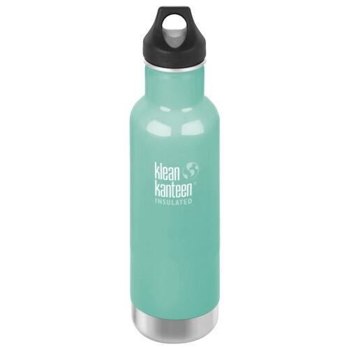 Klean Kanteen 592ml Classic Vacuum Insulated Water Bottle Loop Cap Sea Crest