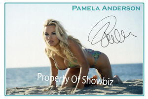 PAMELA-ANDERSON-LARGE-AUTOGRAPH-SIGNED-PHOTO-POSTER-BAY-WATCH-GREAT-FRAMED