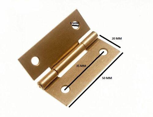 environ 5.08 cm Couplet porte Box EB Laiton Acier Plaqué 50 mm 2 in Vis 1 Paire