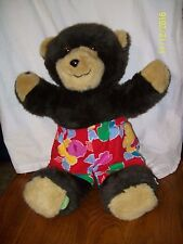 "Monarch Toy Co The Real Hide A Bear Plush 1986 Teddy Bear 17"""