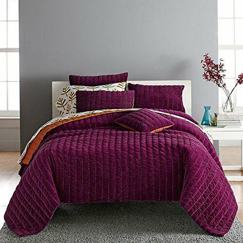 Quilt Boden Reversible Velvet 100, Raspberry Colored Bedding