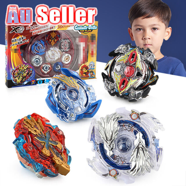 4D Master Fight Launcher Grip Rare Metal Rapidity Burst Top Beyblade Set Fusion