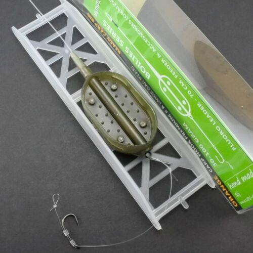 Fluorocarbon METHOD BOAT Feeder Karpfen Montage Life Orange Komplettmontage Carp