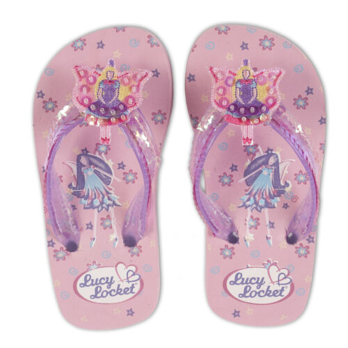26-34 Pink Purple FAIRY Kids Girls FLIP FLOPS Sandals Summer Shoes Lucy Locket
