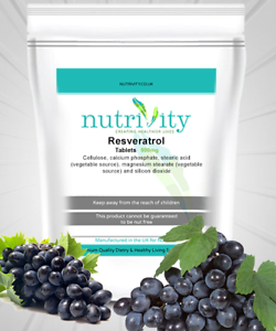 Resveratrol 500mg Tablets Nutrivity Uk Powerful Memory