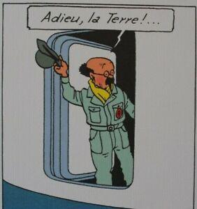 HERGE-d-039-apres-TINTIN-Objectif-Lune-3-Lithographies-Ex-Libris-2010