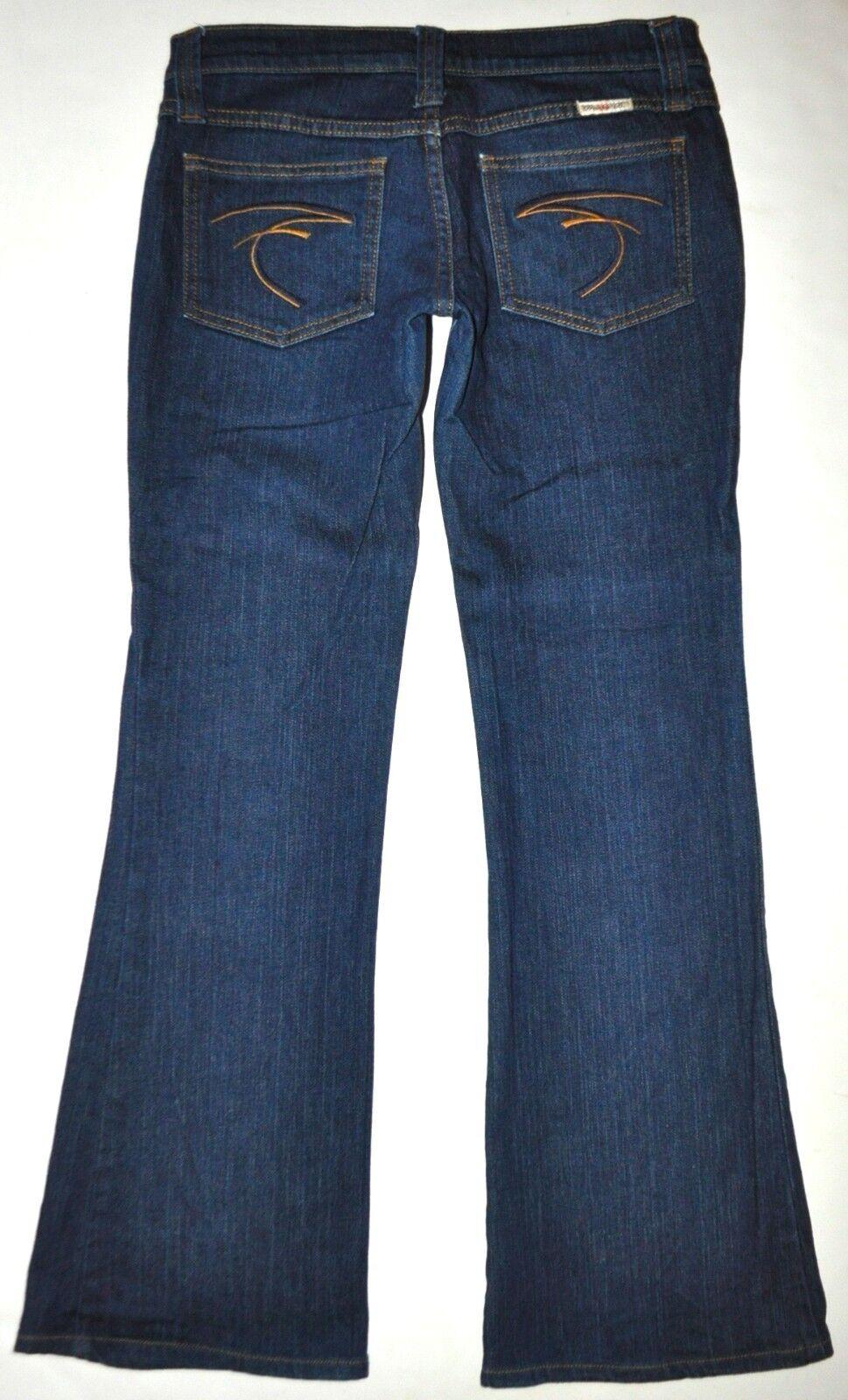 Frankie B Dark bluee Flare Jeans Size 4 Waist 29.5  Length 29.5  USA AWESOME EUC