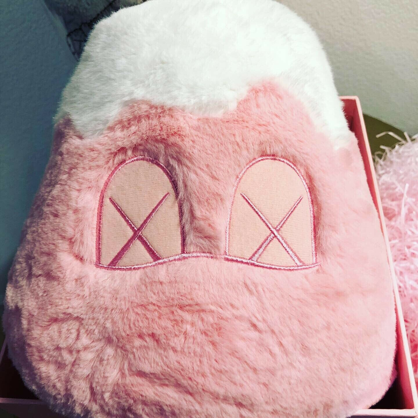 Kaws Holiday Japan Mt. Fuji Plush (Pink) super limited NEW and In Hand