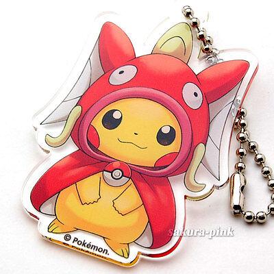 Pikachu Magikarp Pokemon Center HIROSHIMA Key Chain Authentic Japan