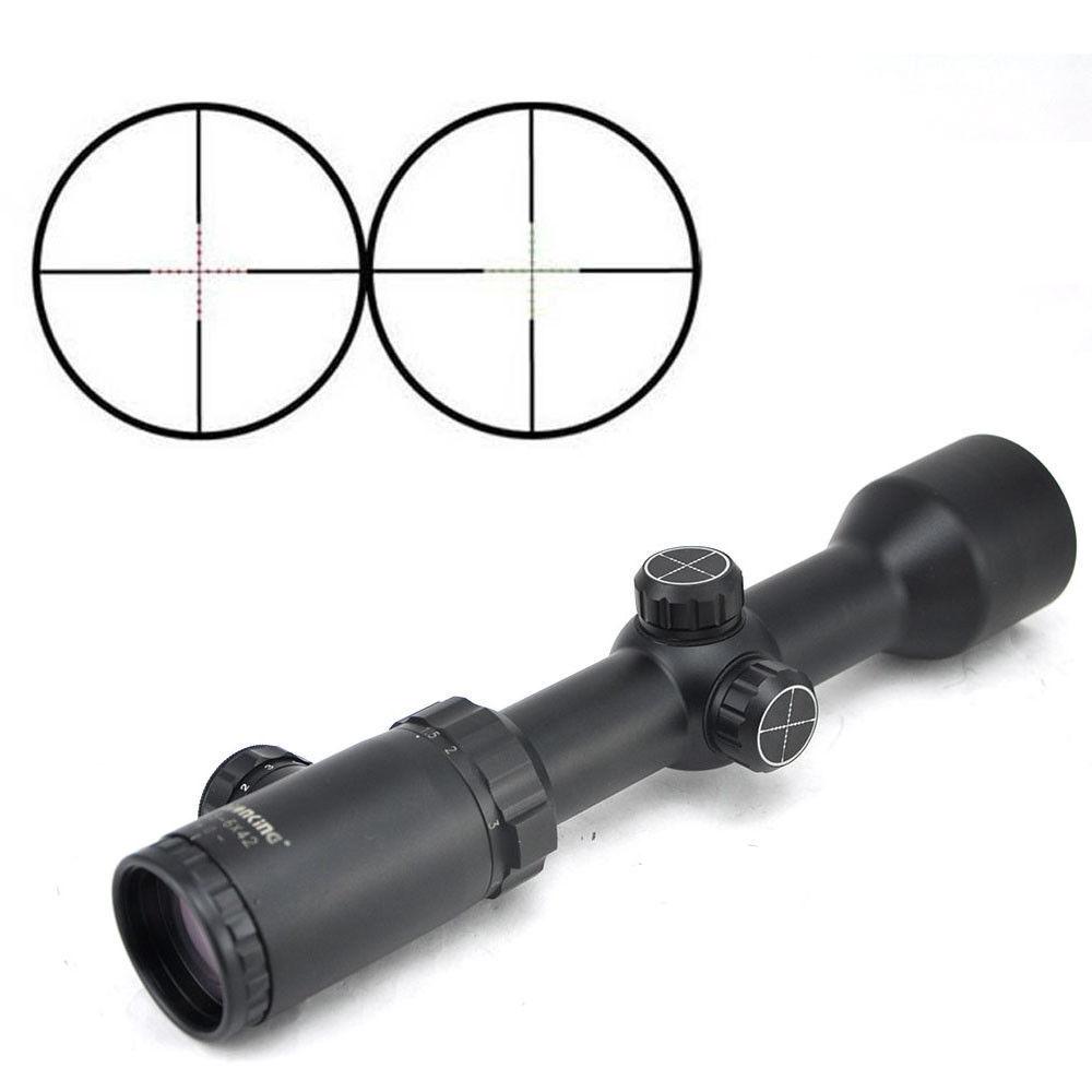 Visionking 1.5-6x42 mira telescópica 30mm iluminados telescópica objetivo objetivo de caza