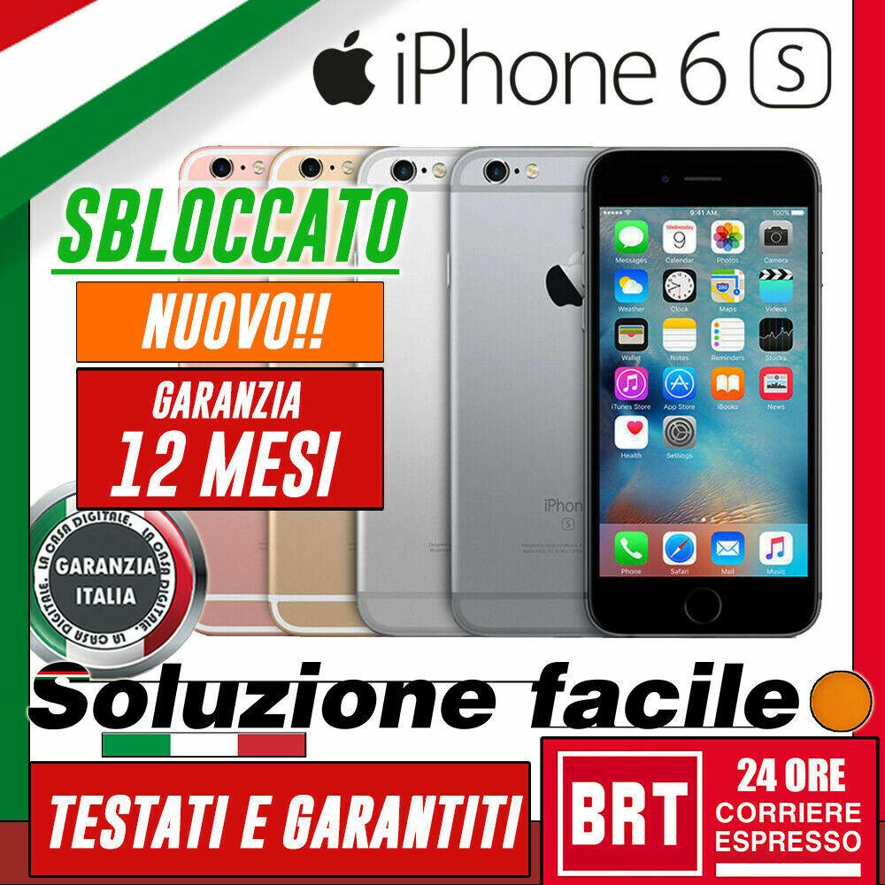 iPhone: NUOVO! SMARTPHONE APPLE IPHONE 6S 16GB 32GB 64GB 128GB ORIGINALE +GARANZIA! 24h!