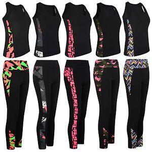 Ladies-Gym-Sport-Vest-or-Leggings-Women-Active-Wear-Tight-Top-Yoga-Pants-S-XL