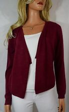 EILEEN FISHER Royal Alpaca Open Front Long Sleeve  Cardigan Sweater Brick Red PS