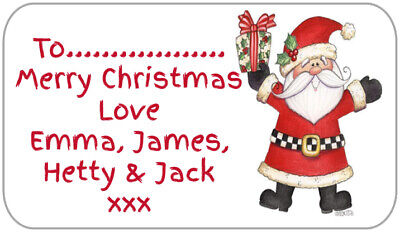 21 Personalised Christmas Gift Tags Stickers Present Labels Invitations Xmas