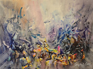 Details About Contemporary Art Original Painting By American Artist Stephen Kang Abstract