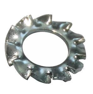 Intelligent 100x Rondelles Frein Dents Denture Extérieure M4 Ф8mm Acier Zingué