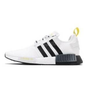 Adidas NMD R1 White Black Yellow Size