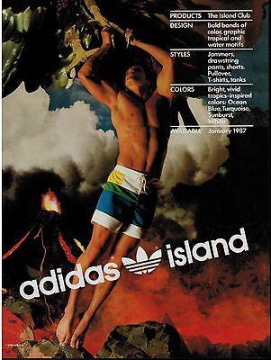 1987 Adidas Island Magazine Print Ad Ebay