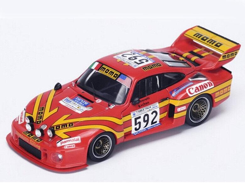 Spark Model 1 43 SI002 Porsche 935  592 Winner Giro d'Italia 1979 Moretti NEW