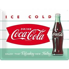 Coca Cola Diner Style, Ice Cold Drink Retro Cafe, Large 3D Metal Embossed Sign