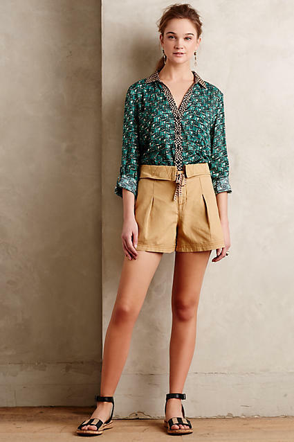 NWT Anthropologie Pleated Linen Shorts, by Hei Hei - size 4