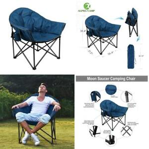 Alpha Camp Upgrade Moon Saucer Folding Camping Chair With