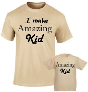 3e686616 I am Amazing Kid Fathers Dad Son Daddy Daughter Family Matching T ...