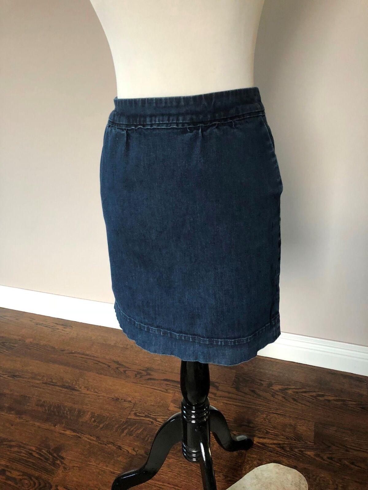 EUC BODEN Denim Bubble Miniskirt SZ 8