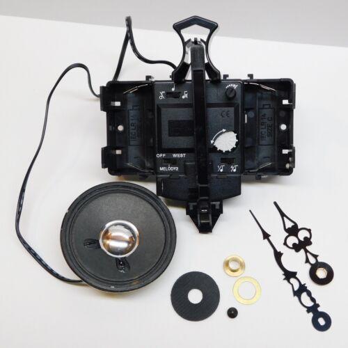 """Howard Miller 354472 Clock Movement 2 Chime 1//2/"""" 15 mm Shaft Quartz Battery"""