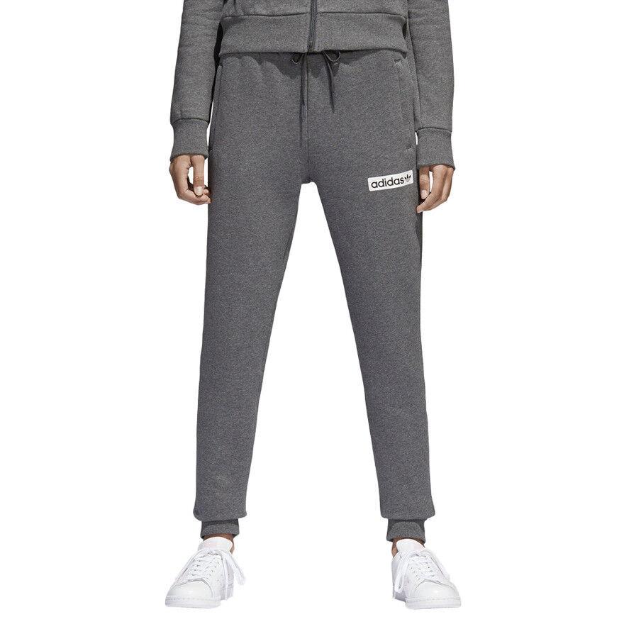 Adidas Regular Cuffed Track Pant DaMänner Hose Originals Trefoil Sweathose Grau