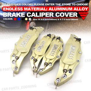 "Universal Black Disc Brake Caliper Cover for 14/""-17/"" Wheel Front Rear Metal ym"