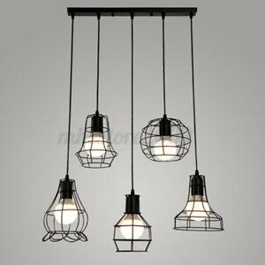 Vintage-Retro-Lampshade-Pendant-Trouble-Light-Bulb-Guard-Cage-Ceiling