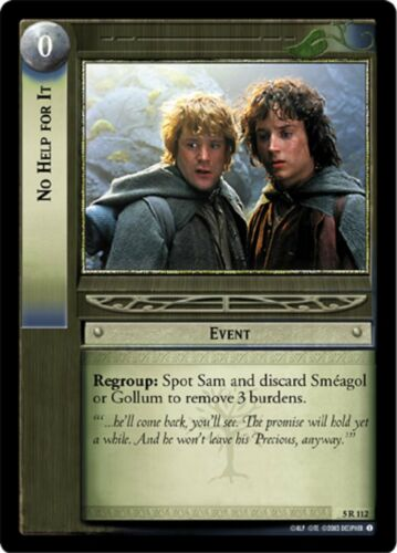 LOTR TCG No Help For It x3 5R112 Battle of Helm/'s Deep Lord of the Rings MINT x3
