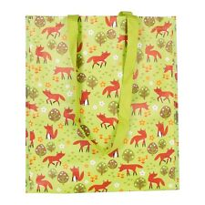 New Fox Tote Shopper Bag Sass & Belle Woven Plastic Woodland Animal